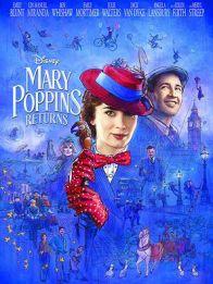 MARY POPPINS RETURNS- Décadas después de su visita original, la niñera mágica regresa para ayudar a los hermanos de Banks y a los hijos de Michael a través de un momento difícil en sus vidas.